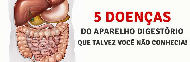 CINCO DOENÇAS DO APARELHO DIGESTÓRIO QUE TALVEZ VOCÊ NÃO CONHEÇA